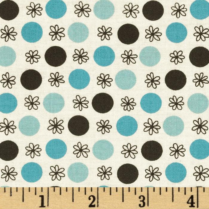 Flea Market Fancy Legacy Collection Flower & Dot Turquoise