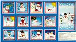 EV-473 Snowman Story Soft Book Panel
