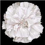 Florentina Jeweled Brooch 4'' X 4'' White