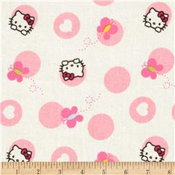 Hello Kitty Nursery Dots and Butterflies White