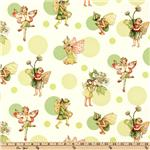 CT-099 Michael Miller Morning Flower Fairies Morning Dot Apple