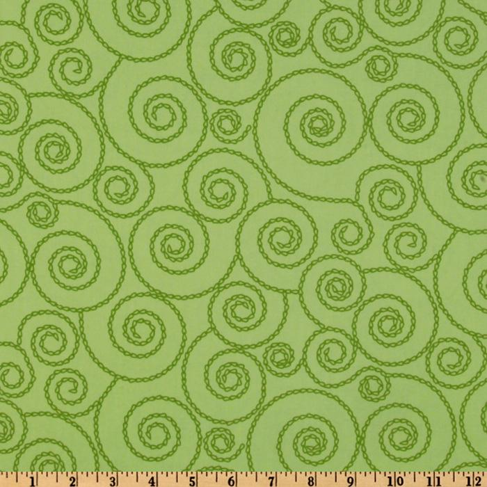 Stitch Organic Stitched Swirls Leaf