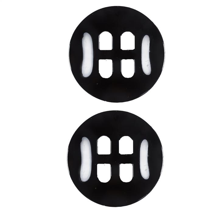 Fashion Button 1 1/4'' Gordes Black