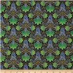 Taj Mahal Metallic Floral Green/Blue