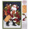 Merry Christmas Santa Door Panel Blue