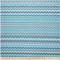 A.E. Nathan Chevron Aqua/White/Grey