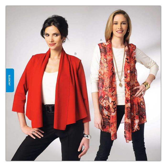 Kwik Sew Misses&#39; Drape Vest &amp; Jacket Pattern