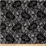 Springtime Floral Lace Black