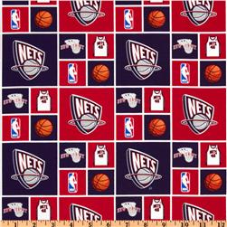NBA Cotton Broadcloth New Jersey Nets Red/Blue