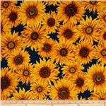 213131 Sunny Day Sunflowers Country Blue