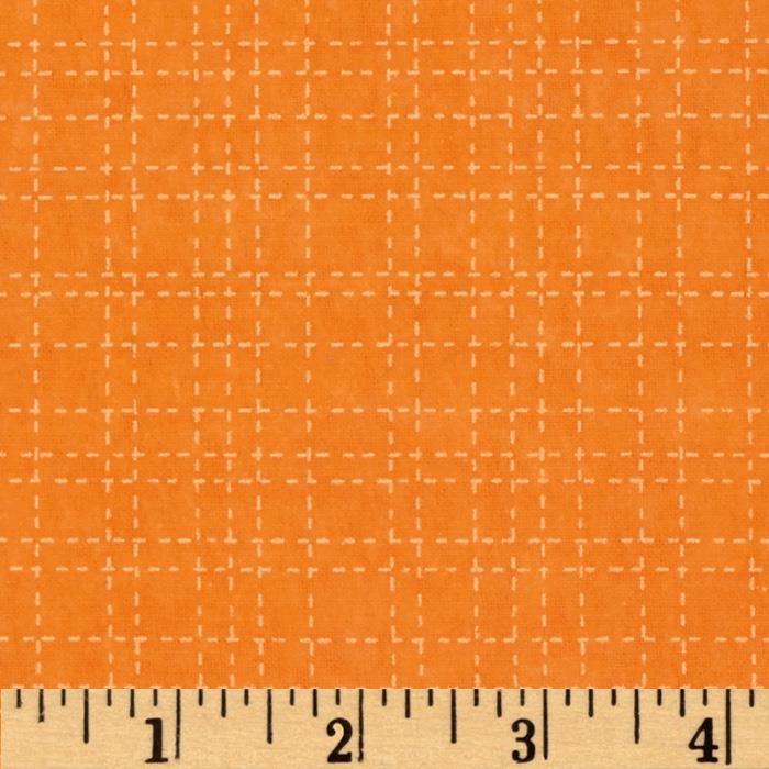 Alpine Flannel All Sports Check Orange