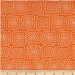0290511 Michael Miller Stitch Floral Square Orange
