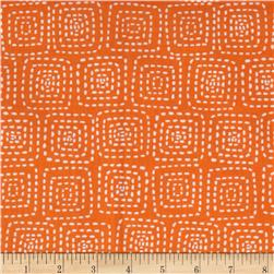 Michael Miller Stitch Floral Square Orange