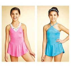 Kwik Sew Girls' Neck Detail Leotards Pattern