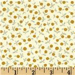 The Pinelope Collection Floral Dot Gold