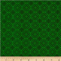 Tone on Tone Small Medallions Green