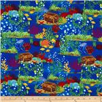 0270117 A-B-Seas Under the Sea Scenic Dark Blue