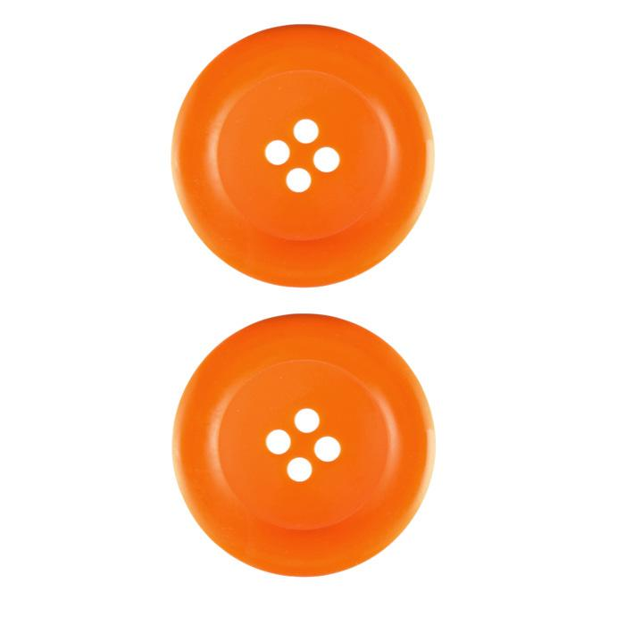 Riley Blake Sew Together 1 1/2'' Matte Round Button Orange
