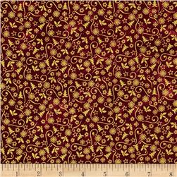 Marblehead Glistening Metallics III Mini Designs Red