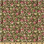 0272285 Sweet Home Calico Floral Green