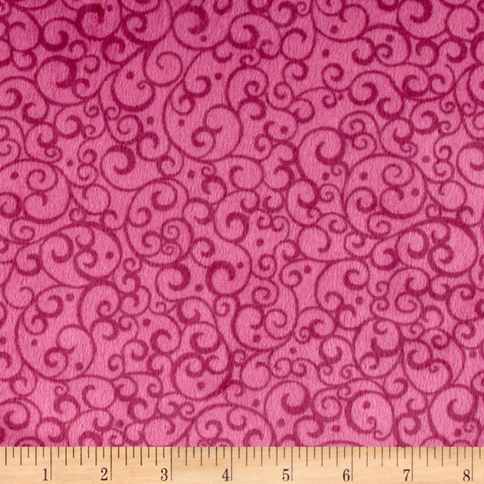 Minky Softie Scrolls Pink