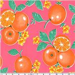 OCR-13 Oil Cloth Oranges Pink