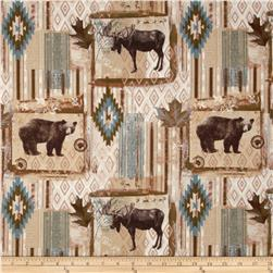 Rustic Living Moose & Bear Patch Tan