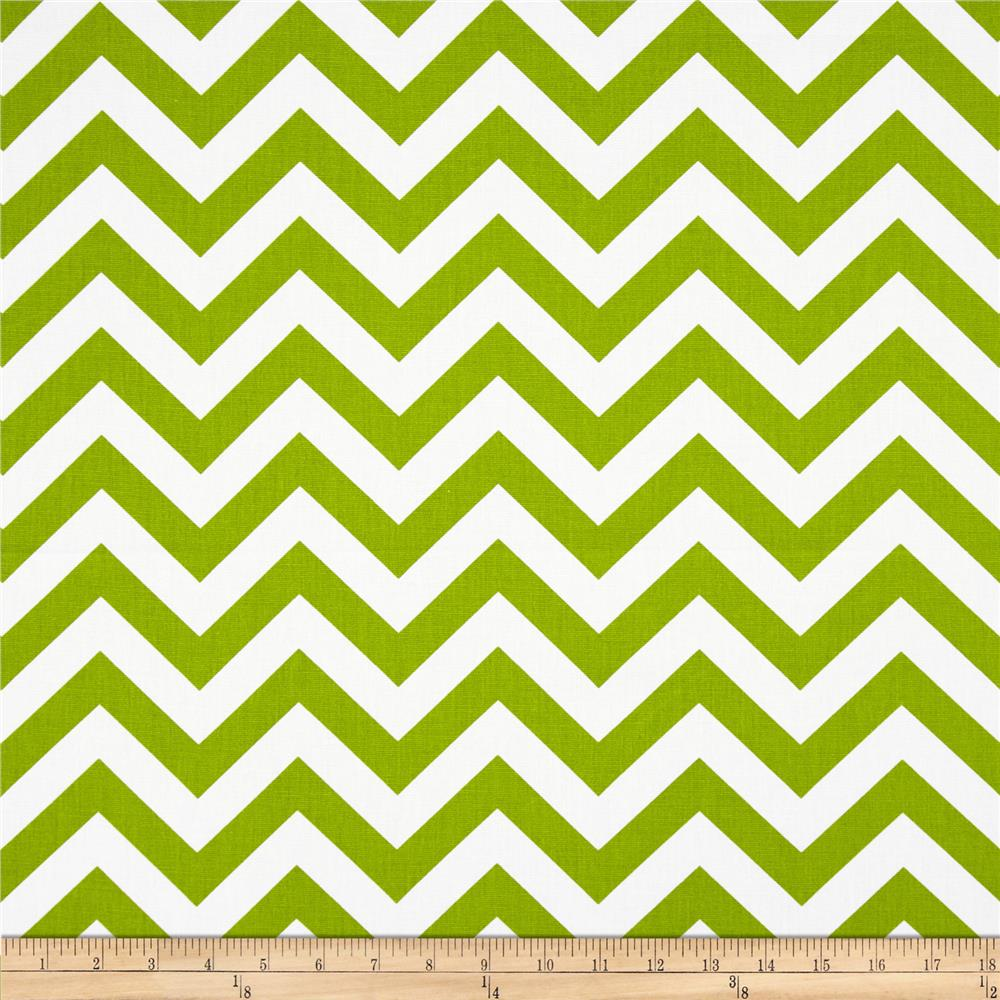 Premier Prints ZigZag Chartreuse/White