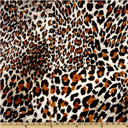 Stretch Cotton Sateen Cheetah Chocolate/Brown
