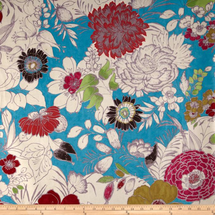Regal Cisco Floral Microfiber Turquoise