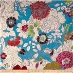0278327 Regal Cisco Floral Microfiber Turquoise