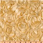 UN-021 Loveable Satin Ribbon Rosette Beige