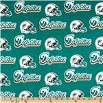 CK-209 NFL Cotton Broadcloth Miami Dolphins Turquoise/Orange