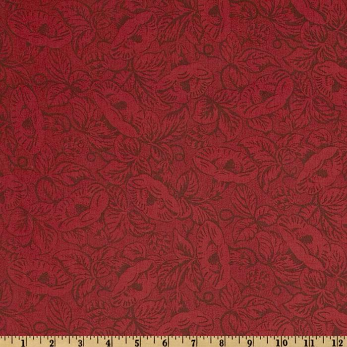 Sweet Home Floral Tonal Red