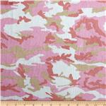 Minky Cuddle Camoflage Light Pink