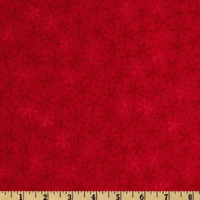 Moda Ten Little Things Twinks Tonal Red