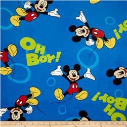 Disney Minky Mickey Mouse Oh Boy Toss Blue