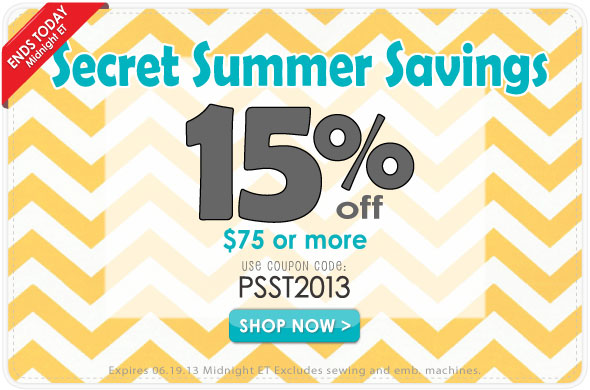 Secret Summer Savings Coupon