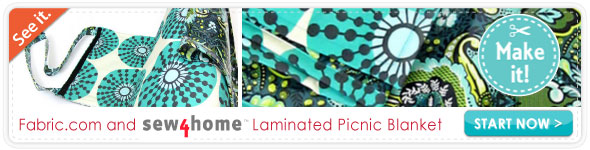 Laminated Picnic Blanket with Carry Wrap