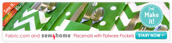 Sew4home Outdoor Placemats with Flatware Pockets