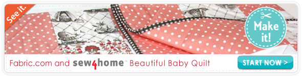 Sew4home Baby Quilt