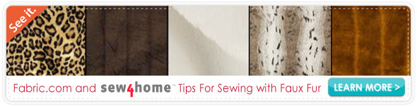 Sew4home Sewing with Faux Fur