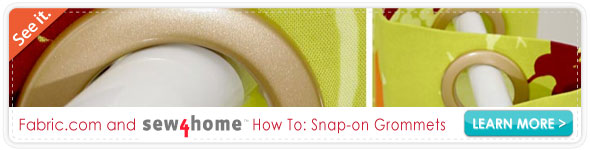 Sew4home Snap-on Grommets