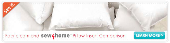 Sew4home Pillow Insert Comparison