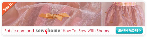 Sew4home Sewing with Sheers