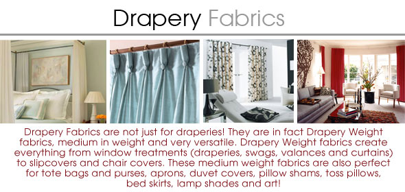 Drapery Fabric - Discount Designer Curtain Fabric -