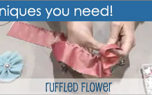 Making a Ruffled Flower