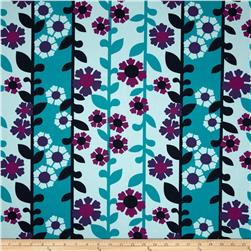 Auntie's Attic Floral Stripe Canvas Malibu