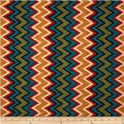 Michael Miller Painted Desert Ikat Chevron Turquoise Fabric