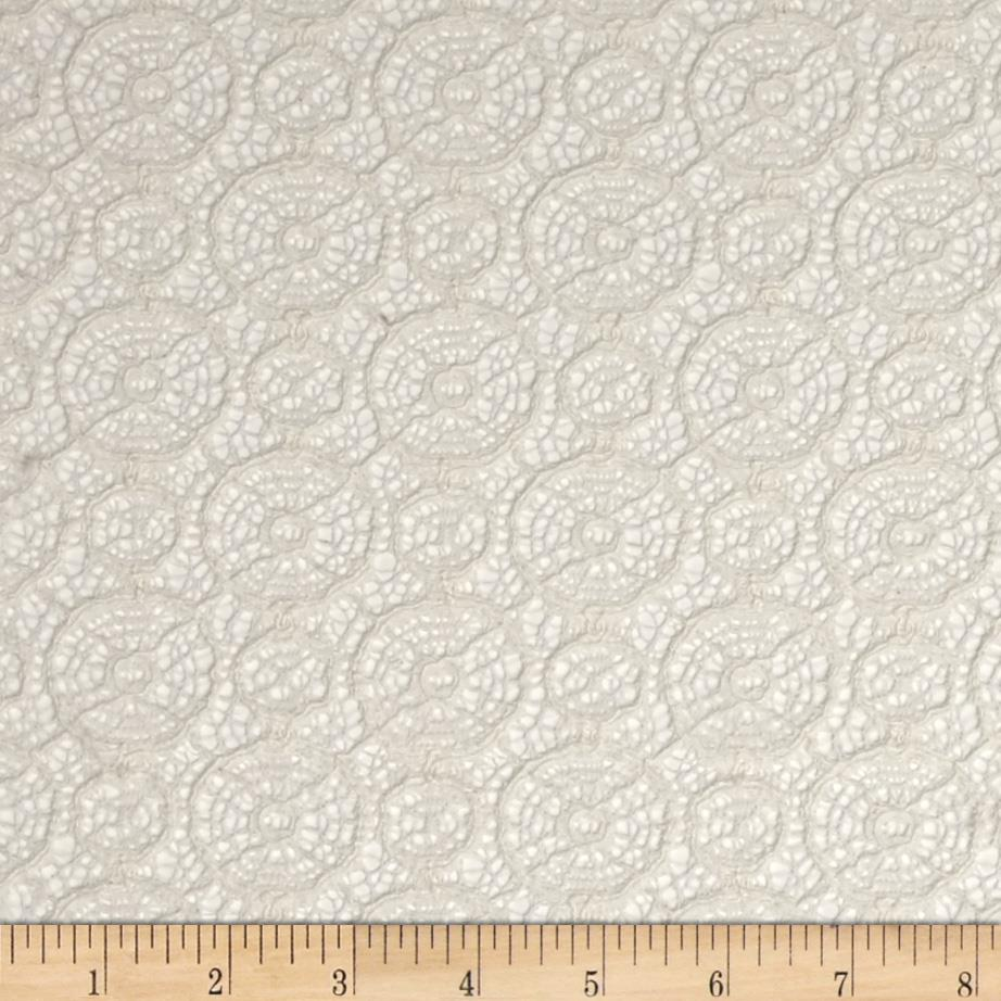 Designer Crochet Lace Off White